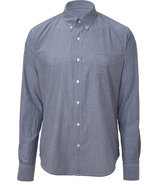 Grey and White Pinstriped Classic Button Down Shir