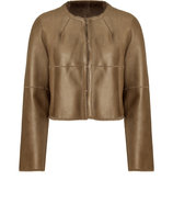 Nougat Shearling Jacket