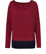 Navy/Red Striped California Top
