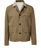 Stone/Military Khaki Cotton Jacket