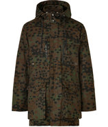 Kombu Green Multi Cotton Irvin Camo Coat