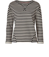General Navy/Natural Striped Terry Ben Top