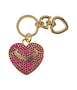 Hot Pink Pave Heart Key Fob in Gift Box