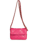 Passion Pink Leather Frankie Shoulder Bag