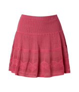 Tea Rose Cotton Knit Skirt