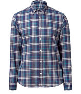 Bright indigo Check Shirt