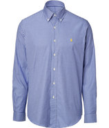 Royal/White Cotton Twill Custom-Fit Gingham Shirt