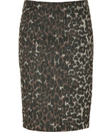 Brown Leopard Print Balenia Skirt