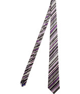 Black/Violet Striped 9cm Silk Tie