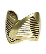 Oxidized Brass Plated Minetta Cuff