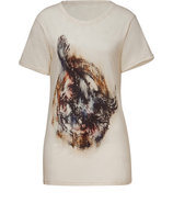 Cream Eagle Print Top