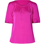 Dark Pink Citta Stretch Silk Top