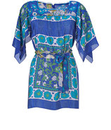 Royal Blue-Multi Mosaic Print Tunic
