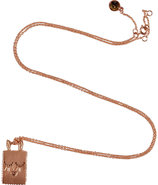 Rose Gold-Toned Bunny Tag Necklace