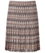 Tonal Taupe Printed Silk Skirt