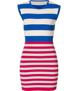 Royal Blue/Fuchsia Knit Exemption Dress
