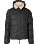 Carbon Lelapo Wool-Cashmere Down Jacket