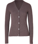 Chocolate V-Neck Cashmere Cardigan