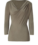 Khaki Draped Top