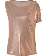 Metallic Rose Lam? Asymmetric Top