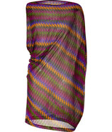 Purple/Multicolor Asymmetric Dress