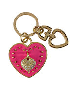 Passion Pink Leather Heart Key Fob
