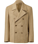 Beige Double-Breasted Jacket
