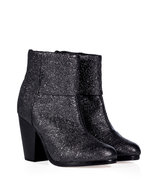 Gunmetal Crinkle Leather Classic Newbury Boots