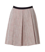 Red/Beige Pleated Skirt