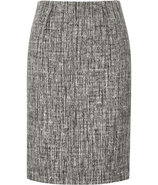 Grey and White Wool-Angora Skirt