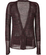 Black and Claret Melang? Cardigan