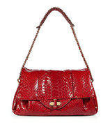 Red Python Giulia Shoulder Bag