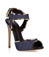 Blue denim sandals