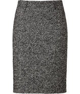 Salt and Pepper Wool-Blend Skirt