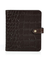 Chocolate Embossed Leather Agenda