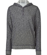 Heather Grey Hooded Long Sleeve Tee