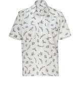 Natural Cotton Allover Skeleton Fly Print Shirt