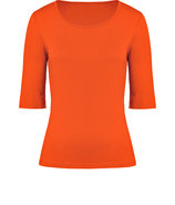 Vibrant Orange Elbow Sleeve T-Shirt