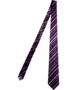 Violet-Multi Striped Silk Tie