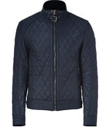 Dark Navy Bramley Quilted Racer Blouson Jacket