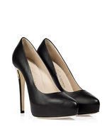 Black Deco Crown Zip Pumps