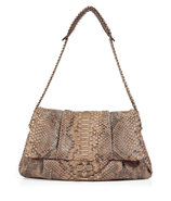 Warm Taupe-Multi Python Giulia Shoulder Bag