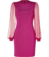 Fuchsia Knit Myrrhe Combo Dress
