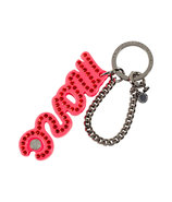 Fluoro Coral Marc Script Bag Charms