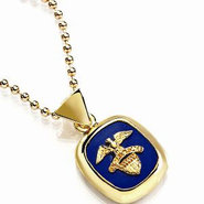 18K Gold Vermeil Air Force Lapis Lazuli Pendant