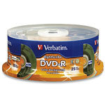 Verbatim 16X 4.7GB DVD-R Color LightScribe Direct
