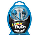 Maxell Color Buds Stereo Earbud Headphones, Blue 1
