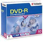 Verbatim 16x 4.7GB Branded DVD-R Media (10-pack Sl