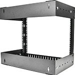 StarTech.com Open Frame Wall Mount Equipment Rack,