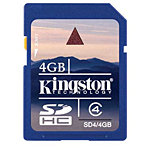 Kingston 4GB SDHC Flash Memory Card, Class 4 SD4/4